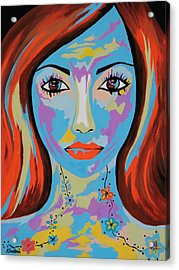 Acrylic Print featuring the painting Avani by Kathleen Sartoris