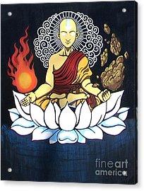 Avatar Aang Buddha Pose Acrylic Print by Jin Kai