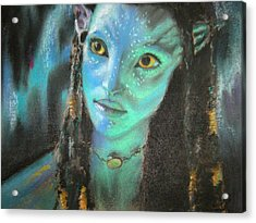 Acrylic Print featuring the pastel Avatar by Lori Ippolito