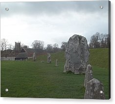 Avebury Stone Henge Acrylic Print by James Potts