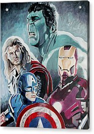 Avengers Acrylic Print by Jeremy Moore