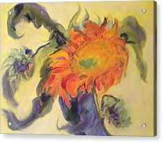 Avenging Sunflower Acrylic Print