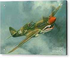 Avg Flying Tiger Acrylic Print by Michael Swanson
