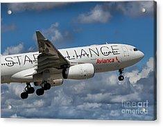 Avianca Star Alliance Airbus A-330 Acrylic Print