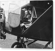 Aviator Clarence Chamberlin Acrylic Print