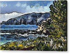 Avila Bay California Abstract Seascape Acrylic Print by Barbara Snyder