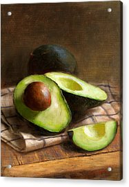 Avocados Acrylic Print by Robert Papp