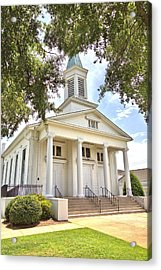Acrylic Print featuring the photograph Awaiting The Congregation by Gordon Elwell