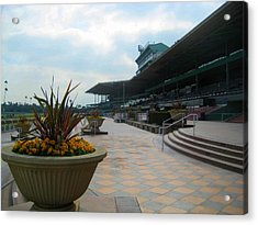 Awaiting The Crowd At Santa Anita Park Acrylic Print