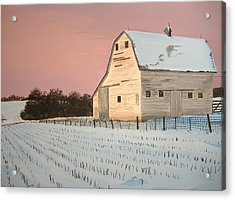 Award-winning Original Acrylic Painting - Nebraska Barn Acrylic Print by Norm Starks