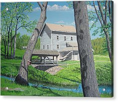Award-winning Painting Of Beckman's Mill Acrylic Print by Norm Starks