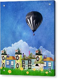 Away Above The Chimney Tops Acrylic Print by Juli Scalzi