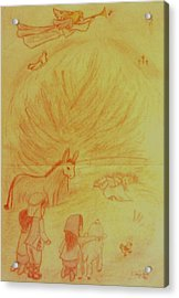 Away In A Manger Acrylic Print by Christy Saunders Church