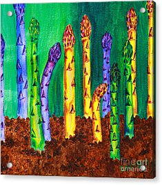 Awesome Asparagus Acrylic Print