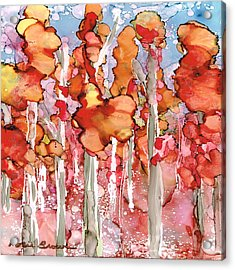 Awesome Autumn Acrylic Print by Rosie Brown