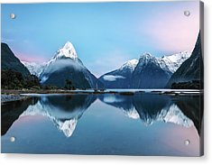 Awesome Sunrise At Milford Sound, New Acrylic Print by Matteo Colombo