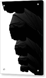 Awnings In Black Acrylic Print