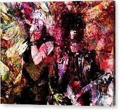 Axl And  Slash Acrylic Print by David Plastik