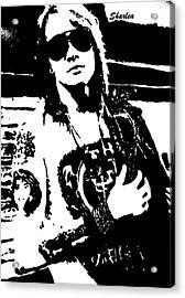 Axl Rose Acrylic Print by Paula Sharlea