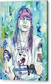 Axl Rose Portrait.1 Acrylic Print by Fabrizio Cassetta