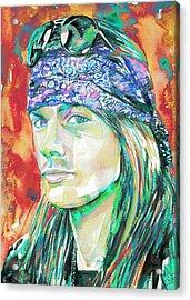 Axl Rose Portrait.2 Acrylic Print