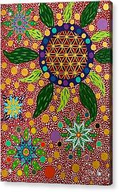 Ayahuasca Vision - The Opening Of The Heart Acrylic Print