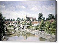 Aylesford Bridge Acrylic Print by Rosemary Colyer