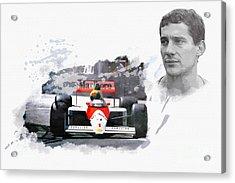 Ayrton Senna Genius Acrylic Print
