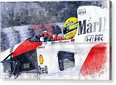 Ayrton Senna Mclaren 1991 Hungarian Gp Acrylic Print