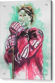 Az Coyotes ...hockey Player Shane Doan Acrylic Print by Chrisann Ellis