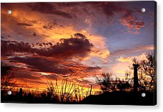 Az Monsoon Sunset Acrylic Print