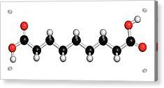 Azelaic Acid Nonanedioic Acid Molecule Acrylic Print by Molekuul