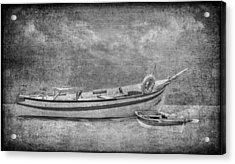 Azorean Fishing Boats B/w Acrylic Print