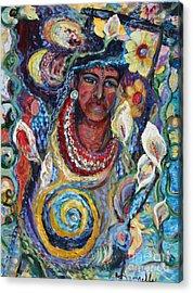 Aztec Garden Acrylic Print by Avonelle Kelsey