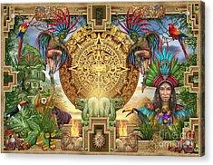 Aztec Mayhem Montage Acrylic Print by Ciro Marchetti