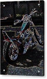 Acrylic Print featuring the digital art Aztec Neon Art by Lesa Fine
