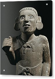 Aztec Priest. Aztec Art. Sculpture Acrylic Print by Everett