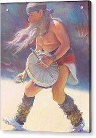 Aztec Sun Dancer Acrylic Print