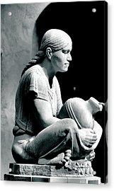 Aztec Woman Acrylic Print by Bob Wall