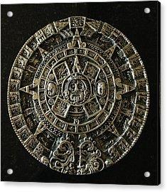 Aztec Acrylic Print by Julio Lopez