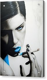 Portrait - ' Azure Addiction ' Acrylic Print