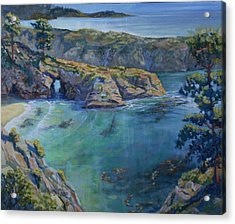 Azure Cove Acrylic Print by Heather Coen