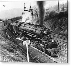B & O Railroad Coal Train Acrylic Print by Underwood Archives