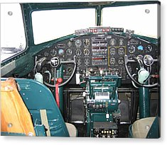 B-17 Flying Fortress Yankee Lady Cockpit Acrylic Print by Don Struke