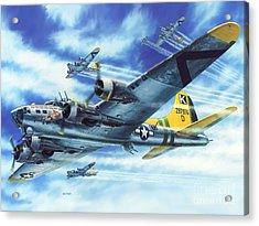 B-17g Flying Fortress A Bit O Lace Acrylic Print by Stu Shepherd