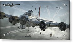 B-17g Hikin' For Home Acrylic Print by Robert Perry