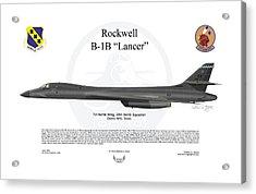 B-1b Lancer 7bw Acrylic Print by Arthur Eggers