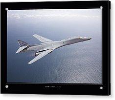 B-1b Lancer Acrylic Print by Larry McManus