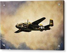 B-25 Georgie's Gal Acrylic Print by Peter Chilelli