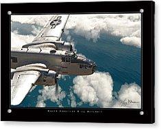 B-25 On Patrol Acrylic Print by Larry McManus